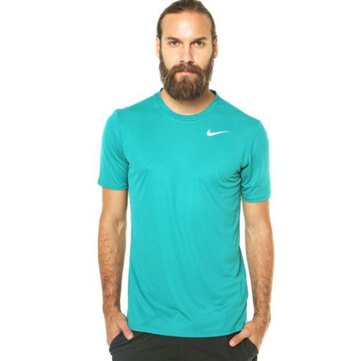5910e5cfe1 camiseta nike masculina dri-fit racer - azul claro. Carregando zoom.