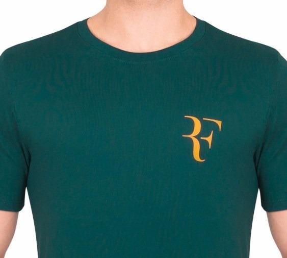 4ea3f2e0c1 Camiseta Nike Masculina Roger Federer 923997 Verde Escuro - R  135 ...