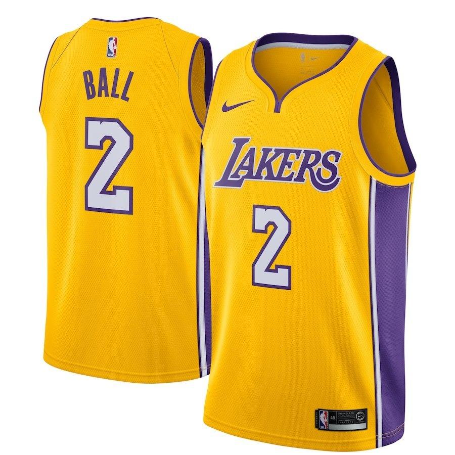 956cf62c4c92b Camiseta Nike Nba Los Angeles Lakers - 2 Lonzo Ball -   1.799