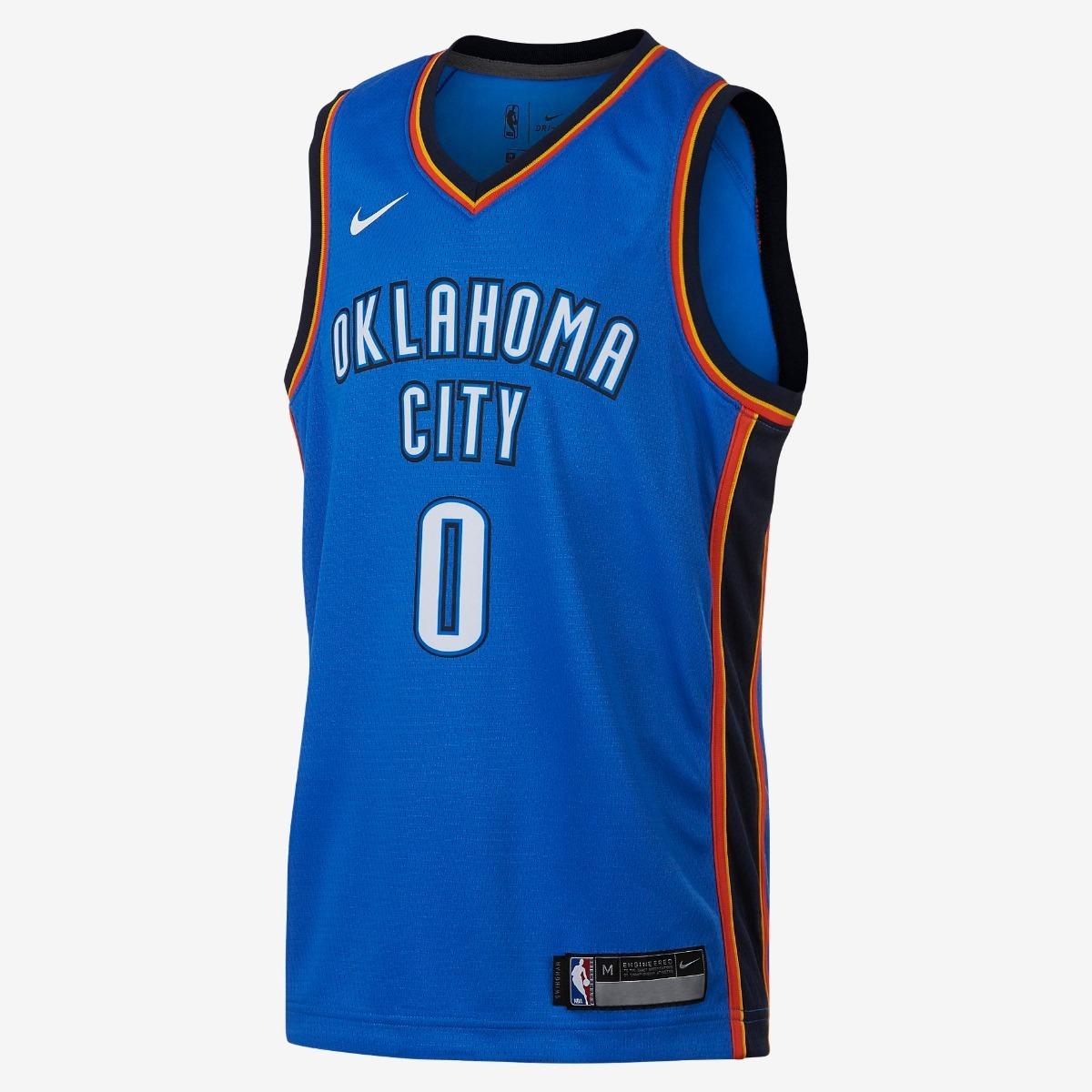 fa005d178d98c camiseta nike nba oklahoma city thunder - 0 westbrook. Cargando zoom.