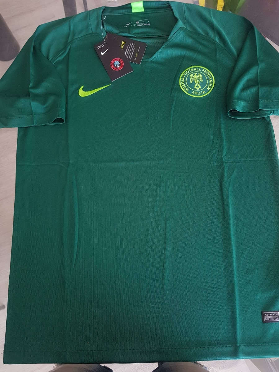 f9e4f7f923 Camiseta Nike Nigeria Titular Verde 2018 -   1.092