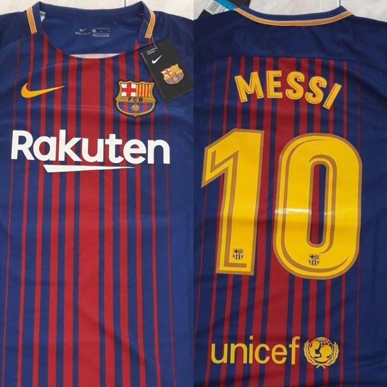 24af04f2e1b44 Camiseta Nike Original Barcelona 2017-2018 Dorsal Messi  10 -   115.000 en  Mercado Libre