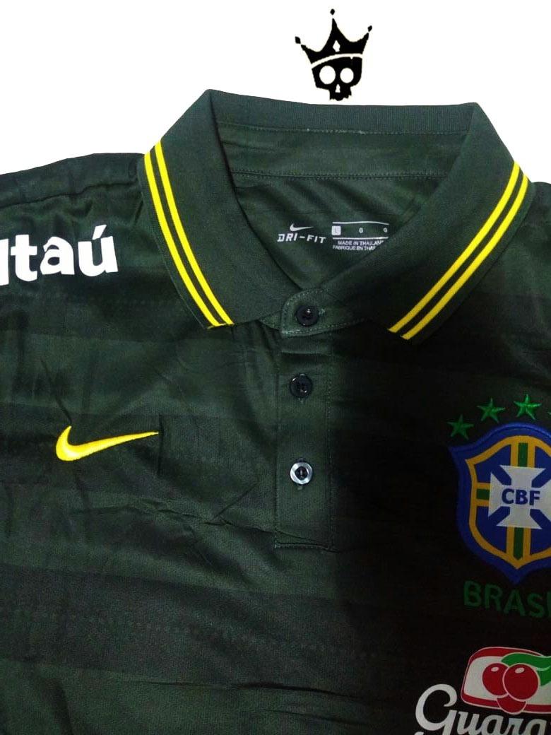 631dde6fe8f9c camiseta nike polo brasil seleção brasileira 2018. Carregando zoom.