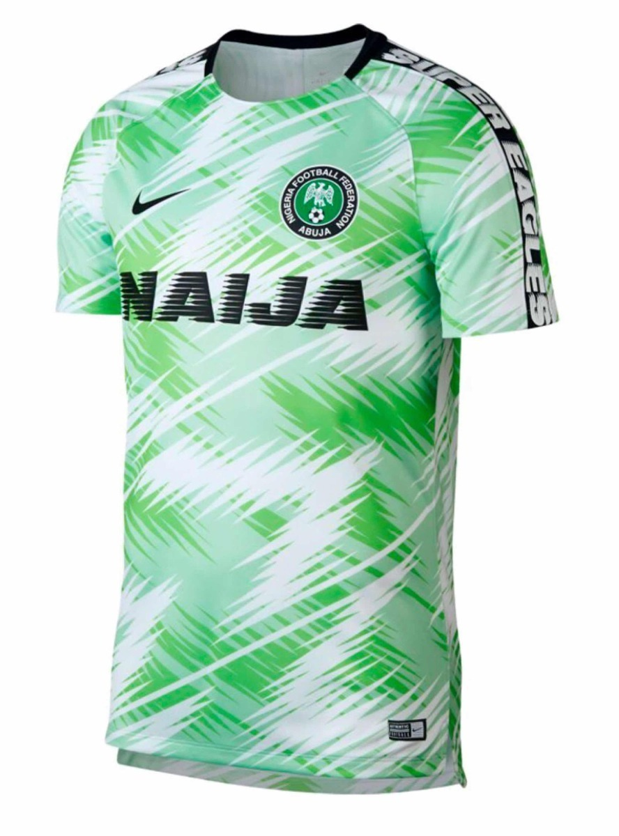 Camiseta 799 Oficial 2018 Mundial Pre Nike Match Nigeria Promo Hq7ZHz