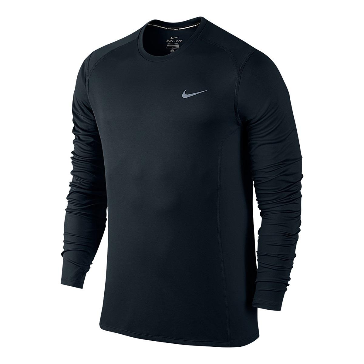 camiseta nike preta manga longa masculina original u.v. Carregando zoom. e4330f69c9931