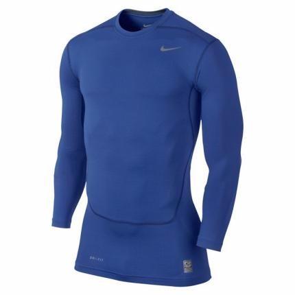 ... 362068a8965 Camiseta Nike Pro Combat Manga Longa Azul V2mshop - R  129 ae91edb146837