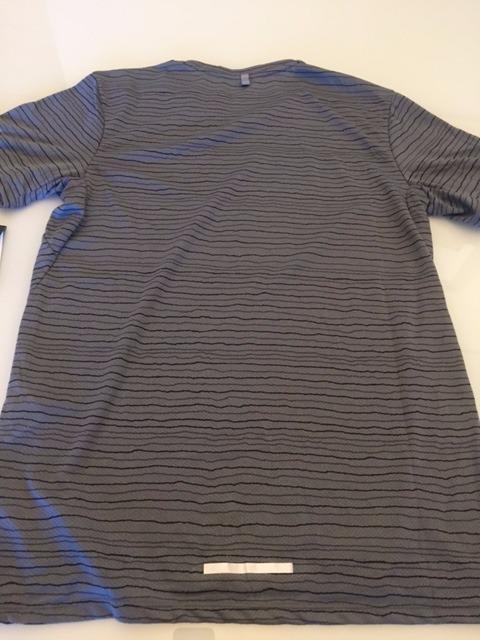0c6503d0e3162 Camiseta Nike Running Original Dri-fit Cinza Listrada - R  89