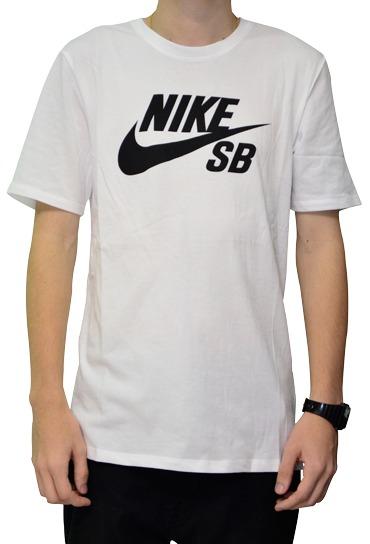 Camiseta Nike Sb Branca Com Logo Preto Original - R  99 f8280a1237a2c