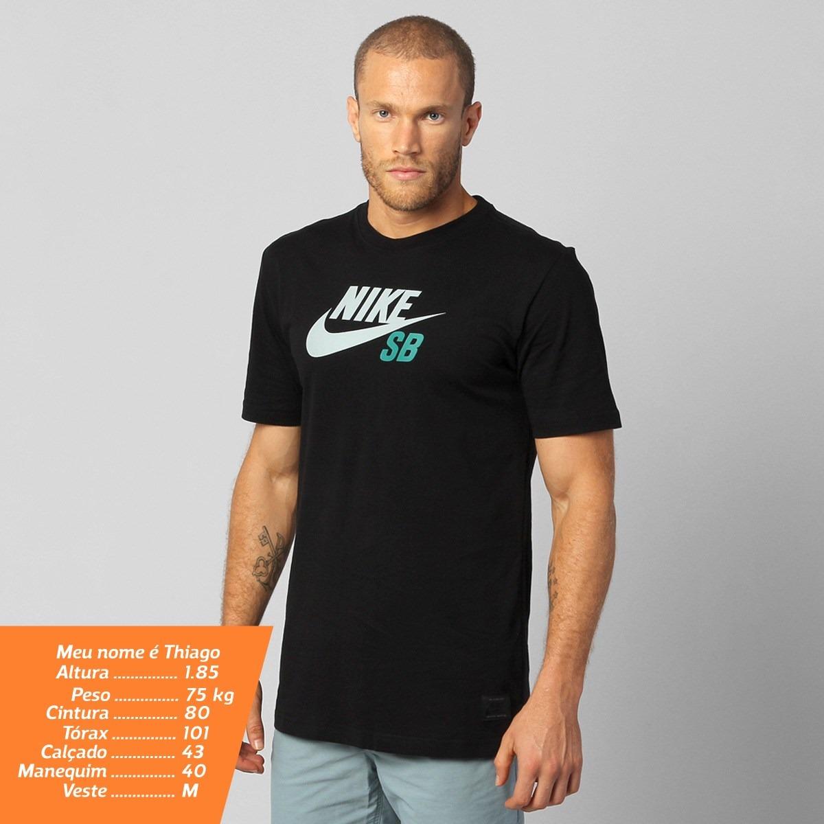 7673ff90ea7e0 Camiseta Nike Sb Df Icon Logo Preta Original Com Nota Fiscal - R ...