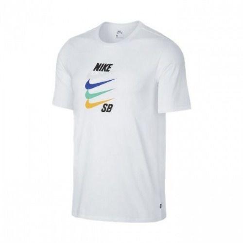 b05a8fcd71 Camiseta Nike Sb Futura 912255-100 Branca - R$ 85,99 em Mercado Livre