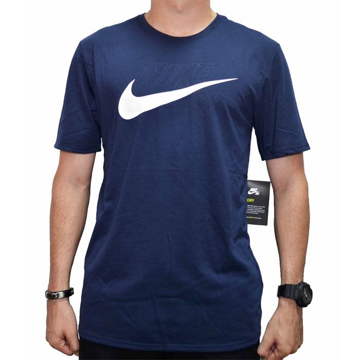 Camiseta Nike Sb Logo - Marinho - R  119 d41e278a061