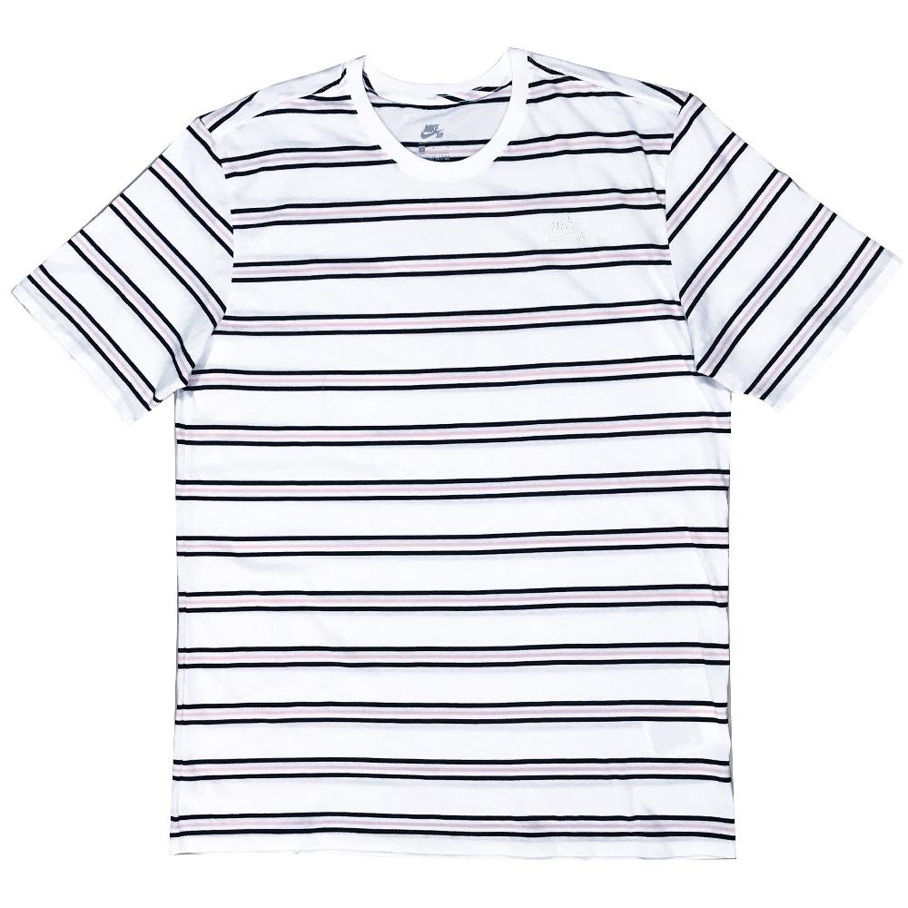 ef3383150c8 camiseta nike sb summer stripe white. Carregando zoom.