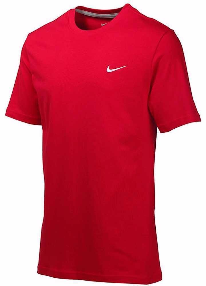 camiseta nike swoosh masculina logotipo bordado vermelha-ori. Carregando  zoom. 8e19c89e632bb