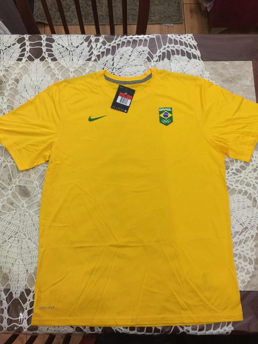 camiseta nike time brasil cob rio2016. Carregando zoom. 6ca46aab099b3