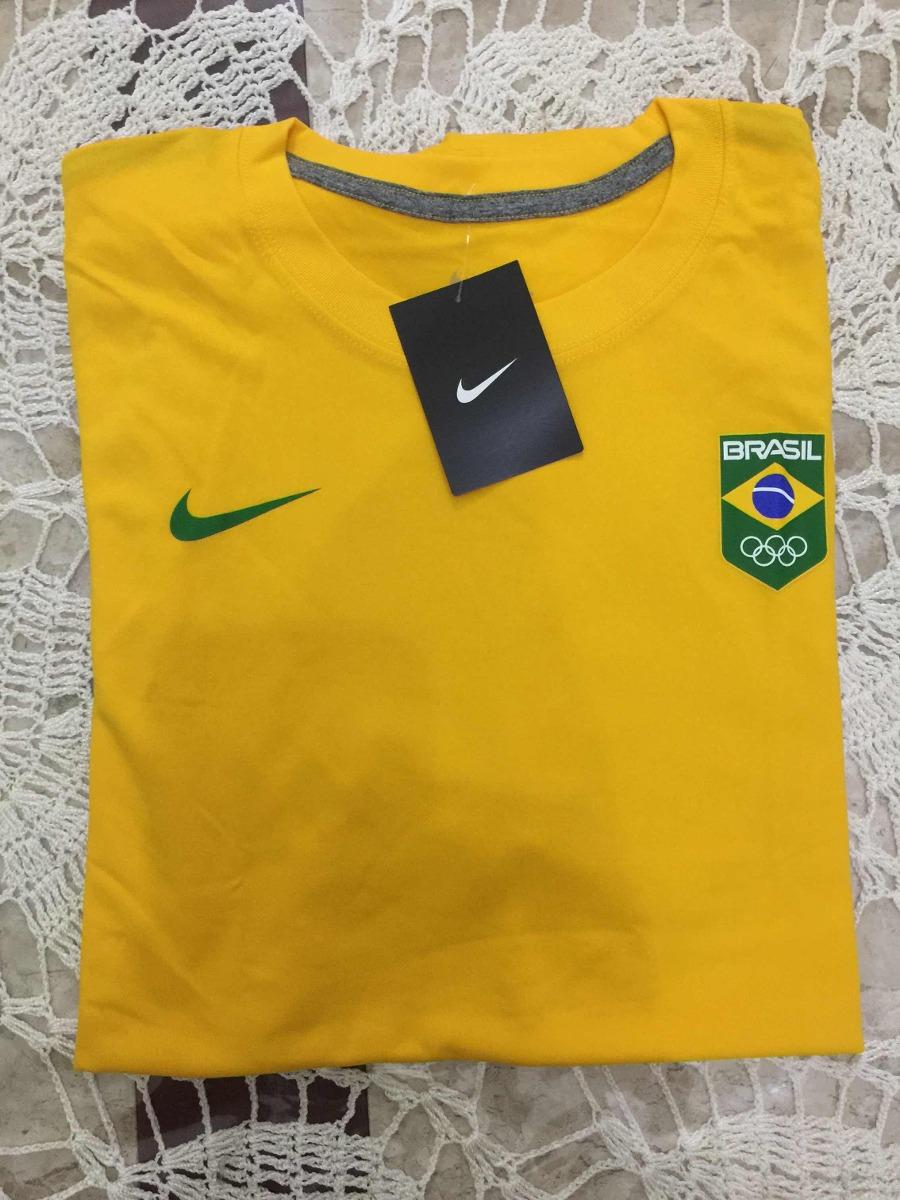 camiseta nike time brasil cob rio2016. Carregando zoom. 32811234e4892