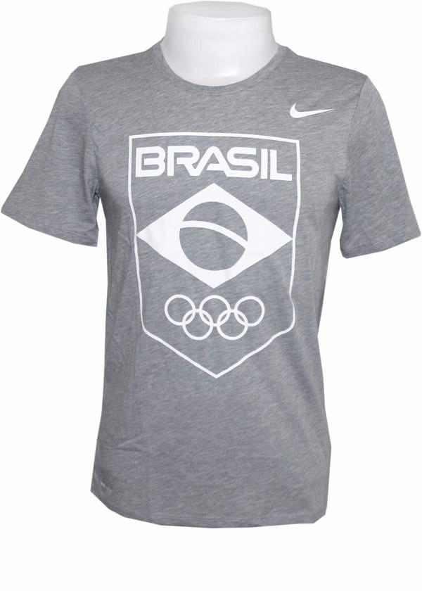 056c7bc5f0 camiseta nike time brasil rio 2016 cob legend cinza masc. Carregando zoom.