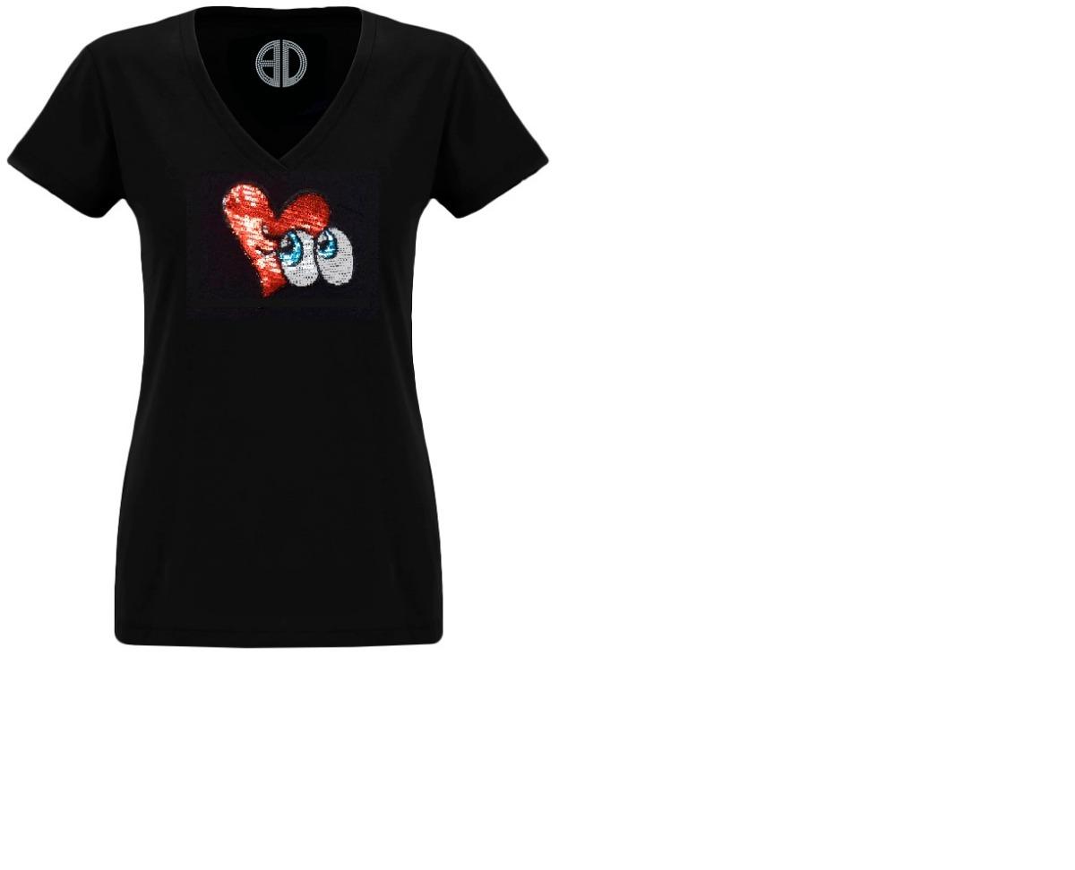 4f85399bf Camiseta Niña Corazón Lentejuelas Holográficas -   29.900 en Mercado ...