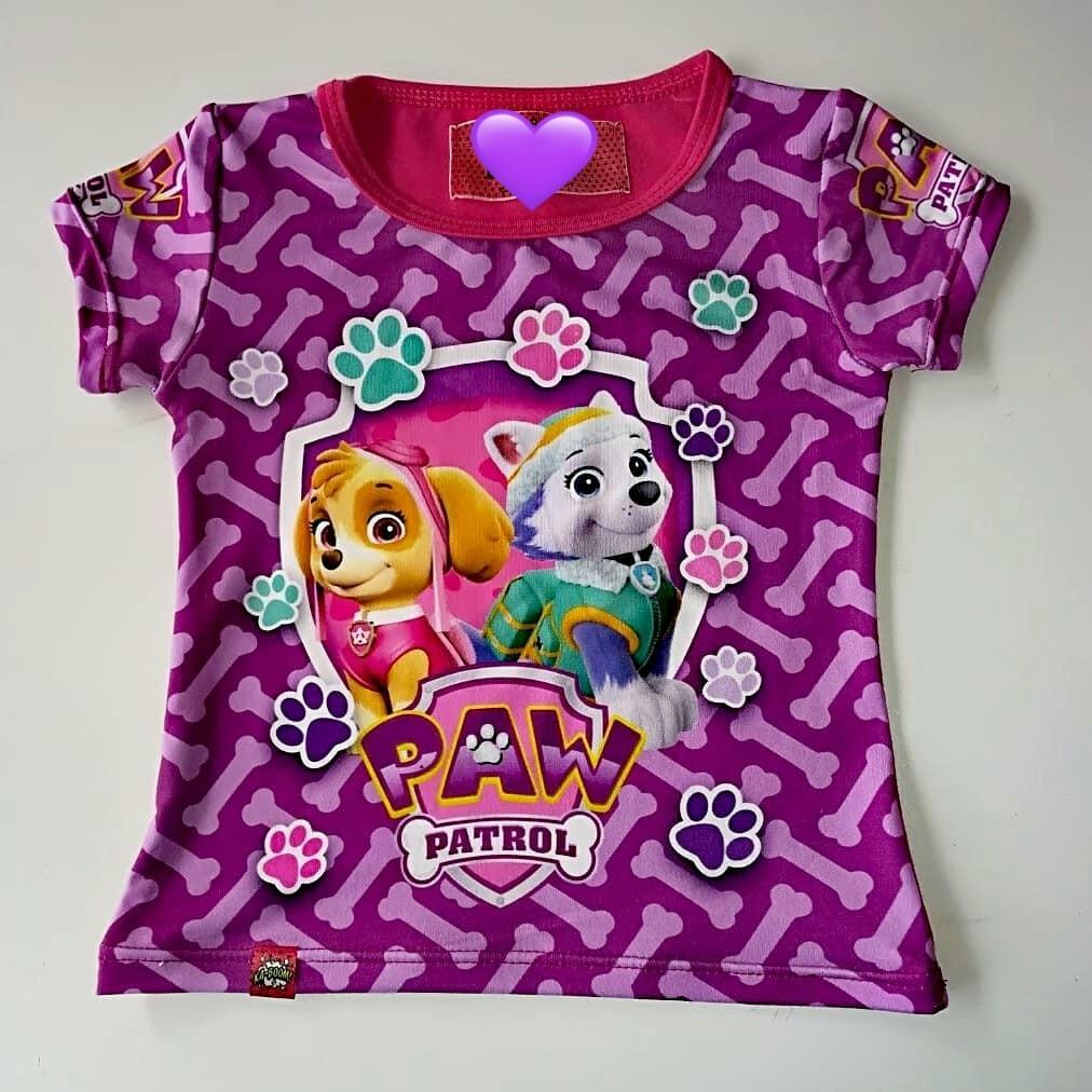 Camiseta para ni/ñas Paw Patrol La Patrulla Canina