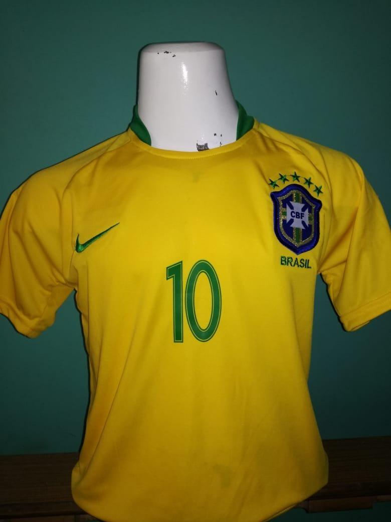 00ee12dbc026b Camiseta Niño Brasil 2018 Neymar Jr.. Nueva !! -   17.990 en Mercado ...
