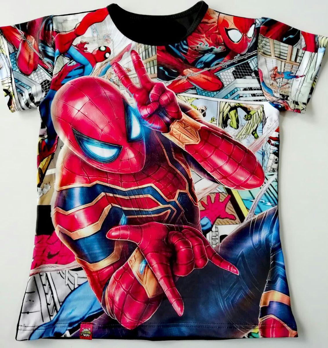 MARVEL para Ni/ño SPIDER-MAN Camiseta de Manga Corta