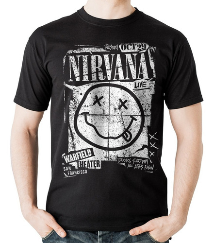 camiseta nirvana concert flyer rock activity