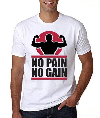 camiseta no pain no gain acadêmia curta liquidação oferta