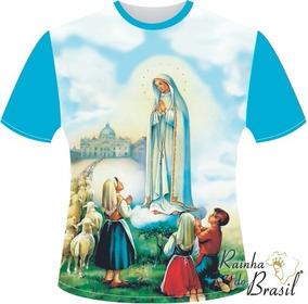 bf77a2de3fa9 Camiseta Nossa Senhora De Fatima E Os Tres Pastores