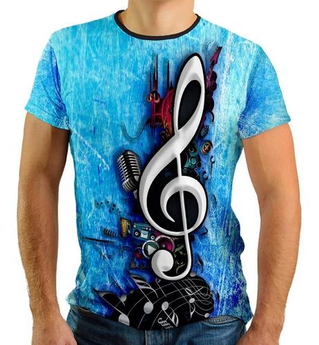 camiseta nota musica violão guitarra instrumentos musicais