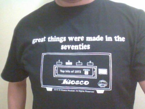 camiseta nueva cartuchera 8 track 70s t-shirt hipster