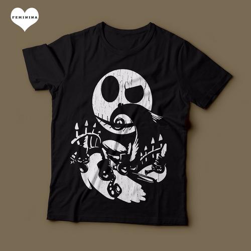 camiseta o estranho mundo de jack feminina preta