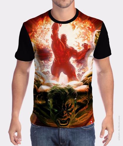 camiseta o incrível hulk - cidade do herói