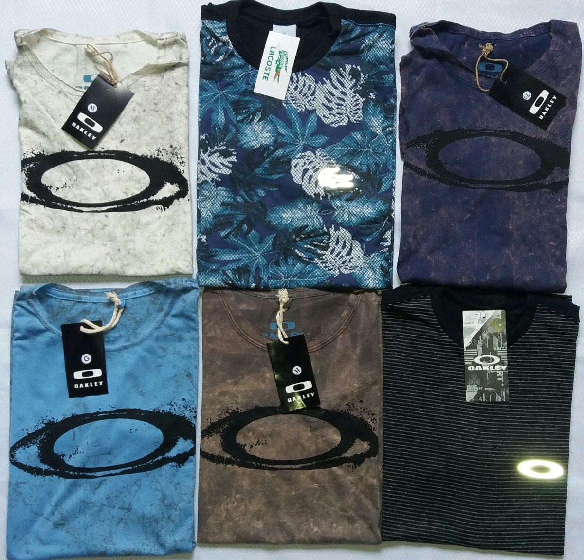 Camiseta Oakley Masculina  ótima Qualidade Camisa Oakley Top - R  49 ... 713c64ff72995