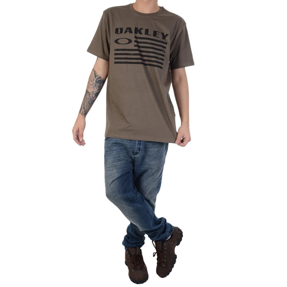 camiseta oakley o-nation tee verde. Carregando zoom. 9f735f6811d