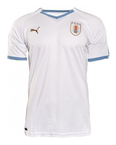 camiseta ofic. orig. alternativa blanca uruguay puma s al xl