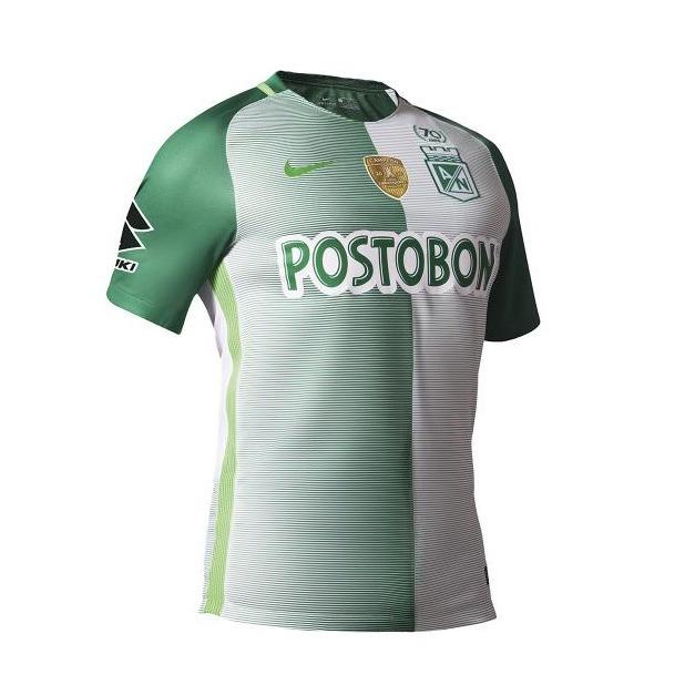 0bfe24937c31f Camiseta Oficial Atlético Nacional Logo Libertadores Nike ...