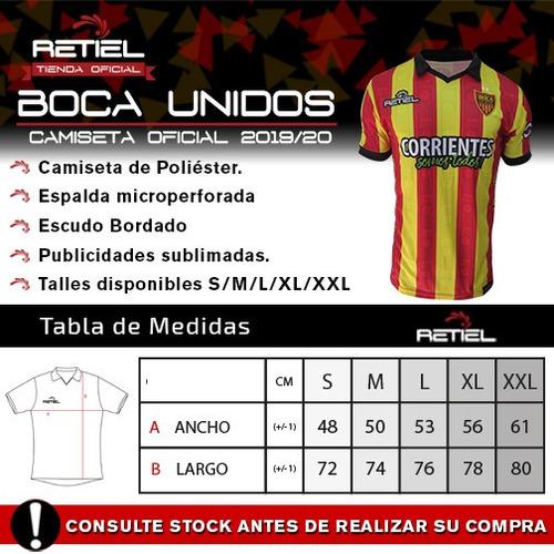 camiseta oficial boca unidos retiel 2019/20