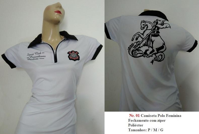 7f9f767c44 Camiseta Oficial Corinthians Feminina - Queima De Estoque - R  49