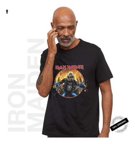 camiseta oficial iron maiden comic tour 2019