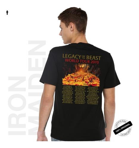 camiseta oficial iron maiden legacy of the beast tour 2019
