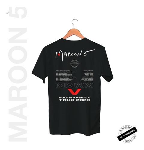 camiseta oficial maroon 5 south america tour 2020