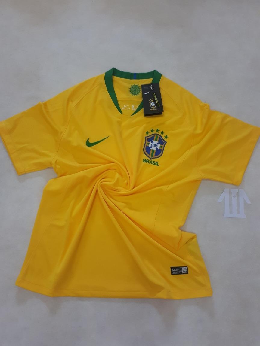 8197c86b55 Camiseta (oficial) Nike Brasil Copa Do Mundo Russia 2018 - R  149