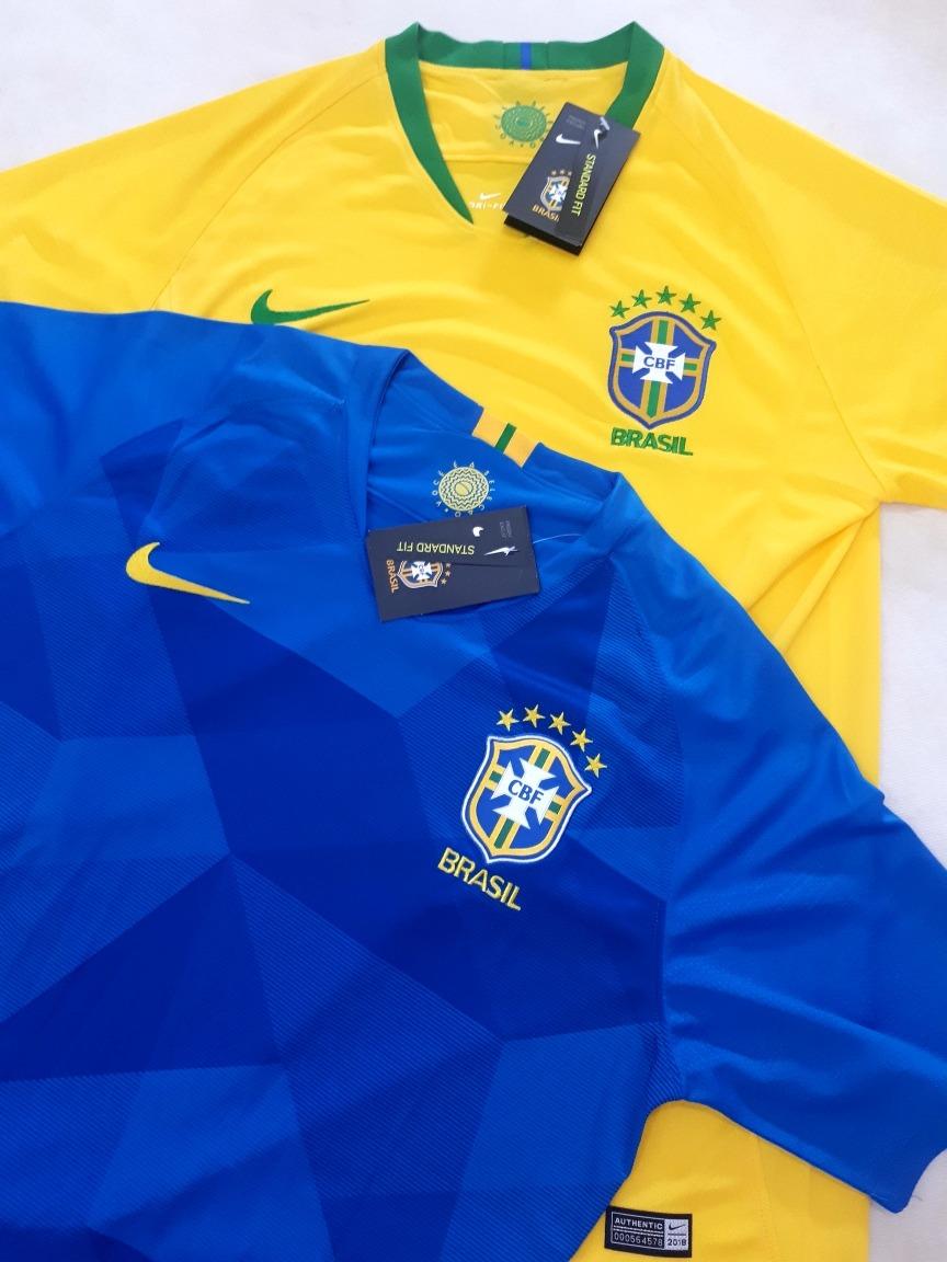 Camiseta (oficial) Nike Brasil Copa Do Mundo Russia 2018 - R  149 6519d4a98068f