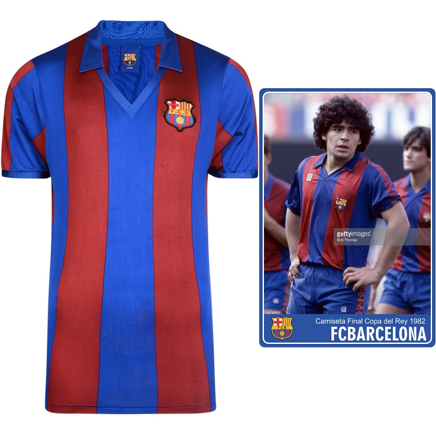 6c4cd409e9708 camiseta oficial retro fc barcelona 1982 (maradona). Cargando zoom.