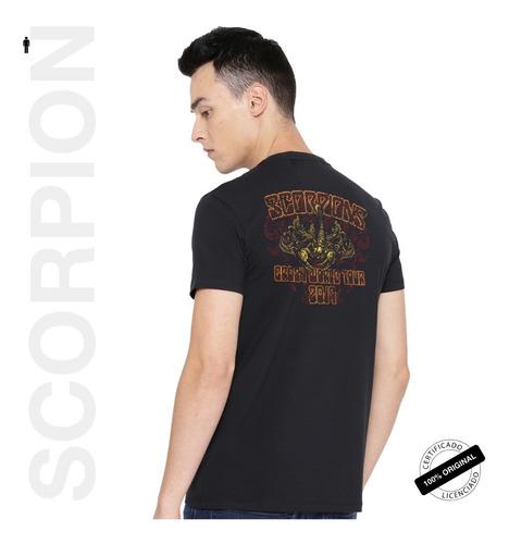 camiseta oficial scorpions ornate shield 2019