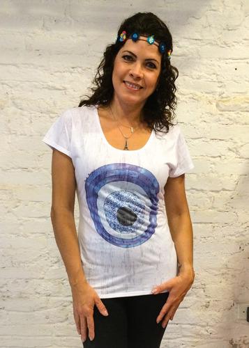 camiseta olho grego manga curta