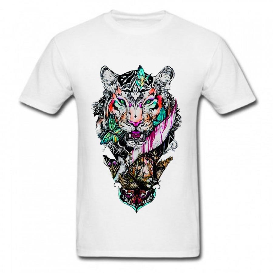 9afbd69bb610d Camiseta Onça Arte Natureza Desenho Criativo Camisa Branca - R  39 ...