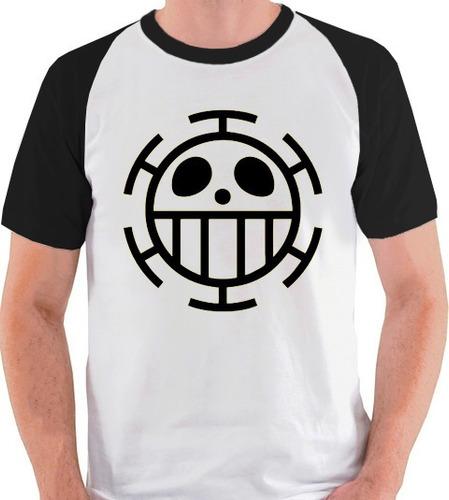 camiseta one piece anime trafalgar law camisa blusa raglan