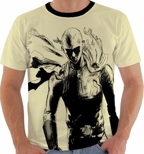 camiseta one punch man - saitama - mangá - anime m165