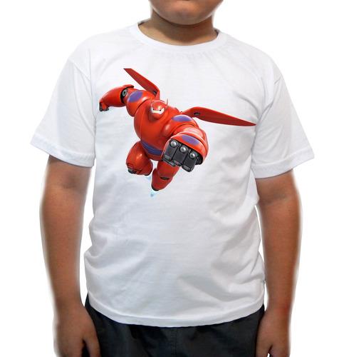 camiseta operação big hero - baymax - infantil - desenhos