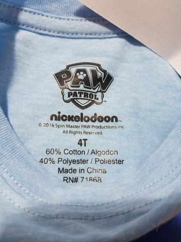 camiseta orginal nueva  paw patrol talla 4 años